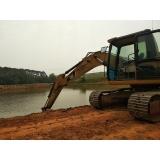 aluguel de escavadeira para obras civis Porto Feliz