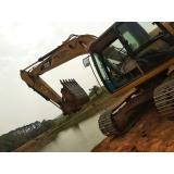 empresa de locação de escavadeira para construção Sorocaba
