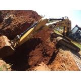 locação de escavadeira para construção preço Iperó