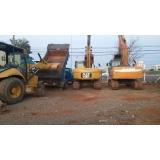 locação de escavadeira para construção