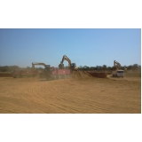serviço de terraplanagem e regularização do terreno