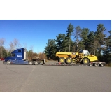 transporte de maquinas e equipamentos em Itapetininga